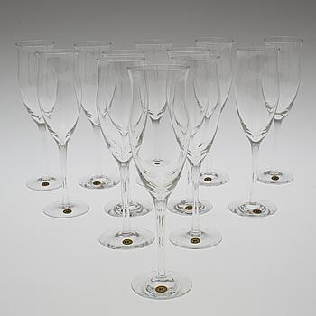 REIJMYRE GLASBRUK, A set of twelve 'Operakällaren' champagne glasses by Reijmyre Glasbruk.