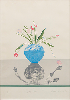DAVID HOCKNEY, lithograph in colours, signed and dated -70.