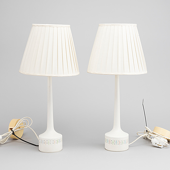 HANS-AGNE JACOBSSON, A pair of second half of the 20th century Markaryd table lamps.