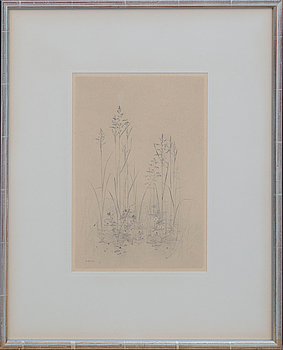 GUNNAR NORRMAN, GUNNAR NORRMAN, a pencil drawing, signed and dated 1955.