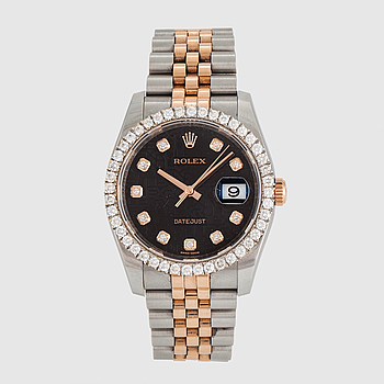 ROLEX, Datejust, wristwatch, 36 mm.
