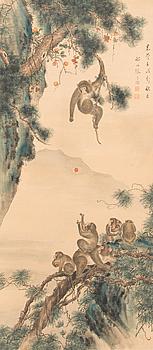 RULLMÅLNING, tusch och akvarell, Kina, tidigt 1900-tal.