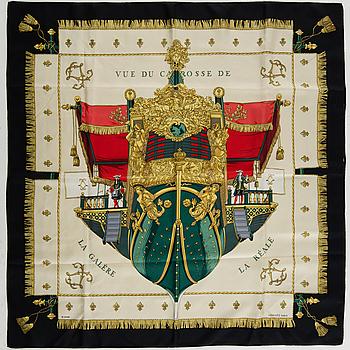 """SCARF, """"Vue du Carrosse de la Galere la Reale"""", Hermès."""