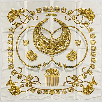 "SCARF, ""Les Cavaliers d'Or"", Hermès."