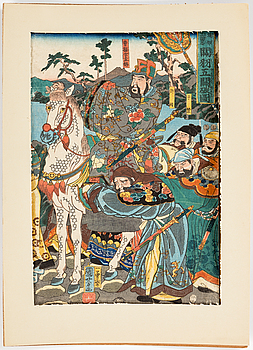 A Japanese woodblock print by UTAGAWA KUIYOSHI (1797/98-1861).