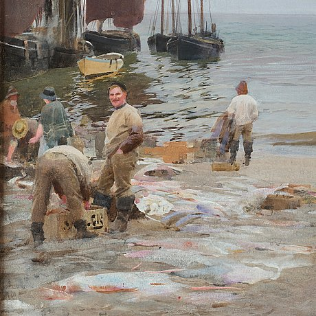 "Anders zorn, ""on the beach st ives cornwall england""."