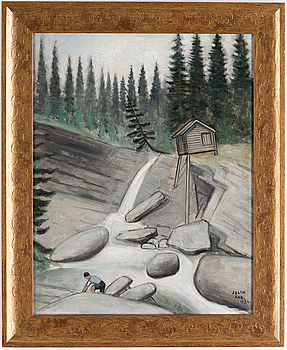 EINAR JOLIN, EINAR JOLIN, oil on panel, signed Jolin and dated Åre 1934.
