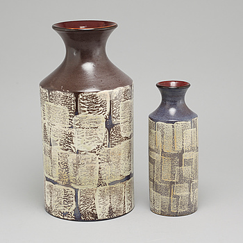 Two vases by Mari Simmulson for Upsala-Ekeby, third quarter of the 20th century.