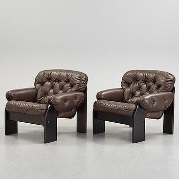 FÅTÖLJER, ett par, OY BJ Dahlqvist AB BD Furniture, Jakobstad, Finland.
