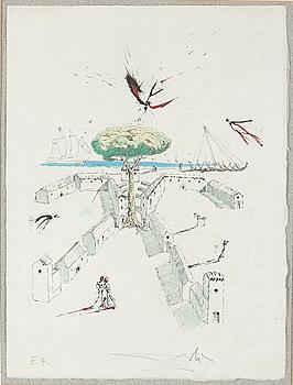 SALVADOR DALÍ, SALVADOR DALÍ,  hand coloured etching on Japon paper, signed in pencil and numbered EA, 1967.