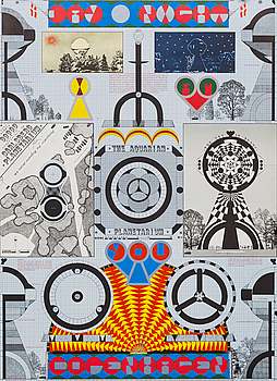 """STURE JOHANNESSON, Affisch, """"The aquarian"""", 1969."""
