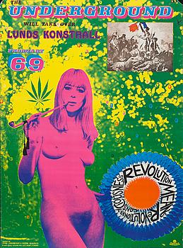 STURE JOHANNESSON & EUGENE DELACROIX, utställningsaffisch, färgoffset, 1969.