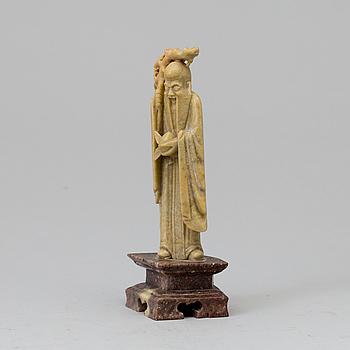 FIGURIN, soapstone. Kina, 1900-tal.