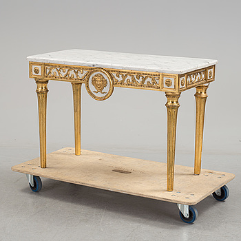 A Swedish gustavian console table, late 18th century.