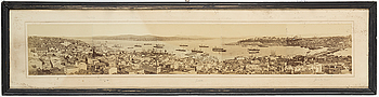 TOPOGRAFISKA PANORAMAFOTOGRAFIER, ett par, Istanbul, Turkiet, sent 1800-tal.