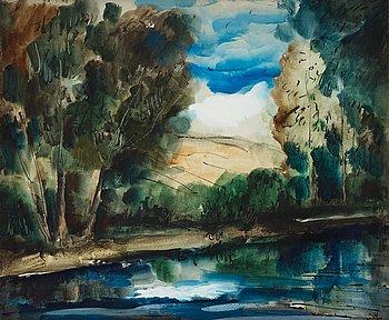 """414. Maurice de Vlaminck, """"Bord de l'eau""""."""