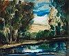 """Maurice de vlaminck, """"bord de l'eau""""."""