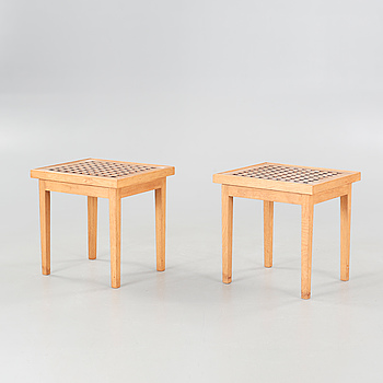 A pair of 20th century tables.