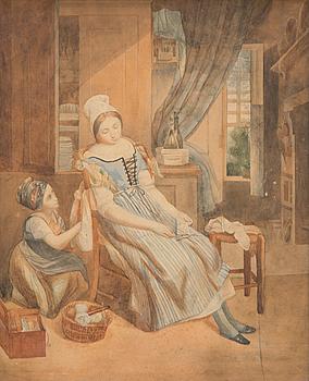 OKÄND KONSTNÄR, akvarell, osignerad, 1800-talets slut.