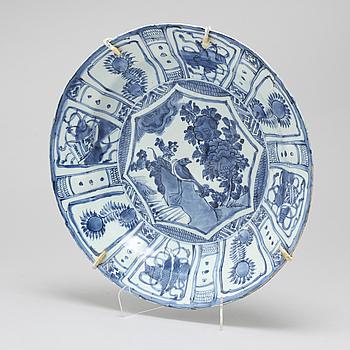 SKÅLFAT, kraakporslin, Kina, Ming, Wanli (1572-1620).