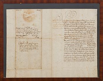 DOKUMENT UNDERTECKNAT AV KARL X GUSTAV STOCKHOLM 2 JULI 1655.