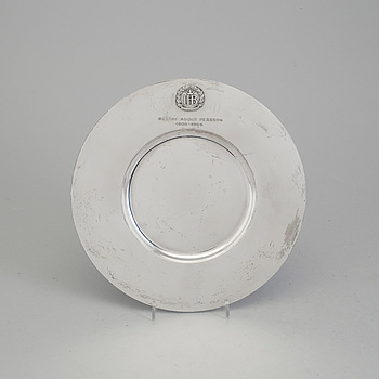 A Atelier Borgila sterling silver plate from Stockholm 1957.
