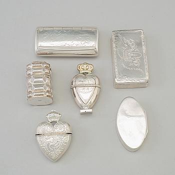 DOSOR 6 st, silver, 1800-tal.