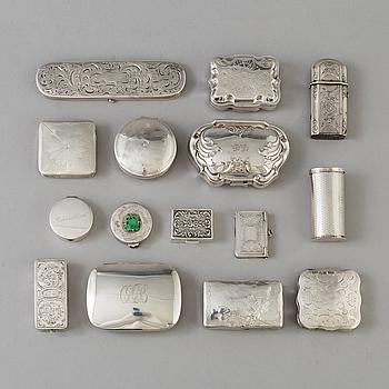 DOSOR 15 st, silver, 1800-/1900-tal.