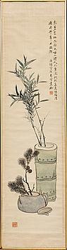 RULLMÅLNING, akvarell, Republik, konstnär 黄逸儒, Huang Yiru.
