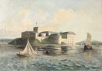 OIDENTIFIERAD KONSTNÄR, olja på duk, signerad Johan Mattsson, omkring år 1900.
