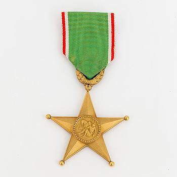 ORDENSTECKEN, Order of the Star of Italian Solidarity, av tredje klass.