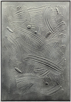 """ALFRED BOMAN, """"More Grey Less Boredom"""", signed a tergo, executed in 2012. Acrylic and spray paint on canvas."""