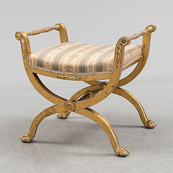 A late Gustavian stool from around the year 1800.