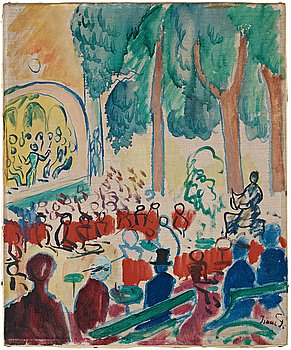 """400. Isaac Grünewald, """"Parkkonsert""""."""