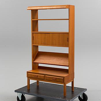 A 1960s teak bookshelf.