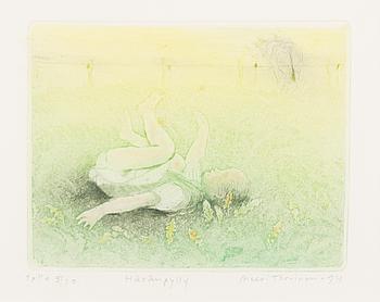 MEERI TORVINEN-ROUVINEN, etsning, akvarell, signerad och daterad -94, numrerad T.p.l'a 5/30.