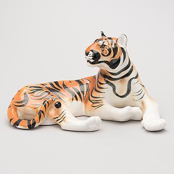 A mid 20th Century porcelain figurine by Lomonosov.