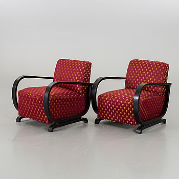 A couple of armchairs 1930´s/1940´s.