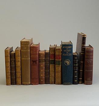 BÖCKER, Reseskildringar m.m. (Afrika, Amerika, Asien), 10 verk, 13 volymer. Ej kollationerade.
