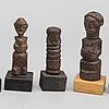 A set of seven sculptures, central africa