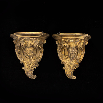 A pair of wall sconces, late 19th century.
