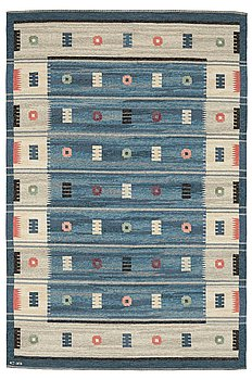 324. CARL DANGEL, MATTO, flat weave, ca 262 x 172,5 cm, signed CD (Carl Dangel). Sweden around the middle of the 20th century.