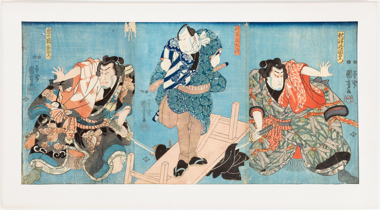 UTAGAWA KUNIYOSHI 1797 98 1861 Three Color Woodblock Prints