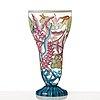 A glass goblet attributed to vally wieselthier, enamel painted by johann oertel & co /haida for wiener werkstätte, .