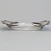 An art noveau gem silver mounted crystal glass bowl maker's mark yegor cheryatov for lorié, moscow, 1908-1917.