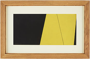 HARRY BOOSTRÖM, gouache on paper, signed and dated -54/55.