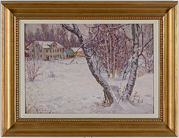 ANTON GENBERG, ANTON GENBERG, oil on board, signed and dated 1912.