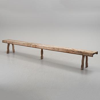 A 19th century Swedish folk art bench.