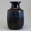 Stig lindberg, a stoneware vase, gustavsberg studio, sweden 1966.
