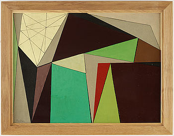 HARRY BOOSTRÖM, Oil on panel, signed. Dated -55 verso.